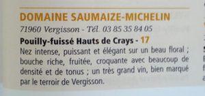 Hauts des Crays, 17/20